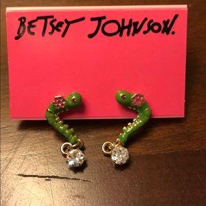 Betsey Johnson Inchworm Earrings